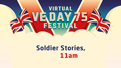 Join us for Soldiers Stories at 11.00am on Saturday 9 May