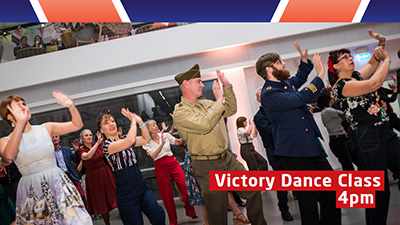 Join us for a very special class showing you how to swing dance in your front room