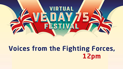 At noon, we examine what life was like for various forces members on VE Day