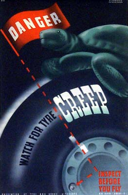 Danger - watch for tyre creep