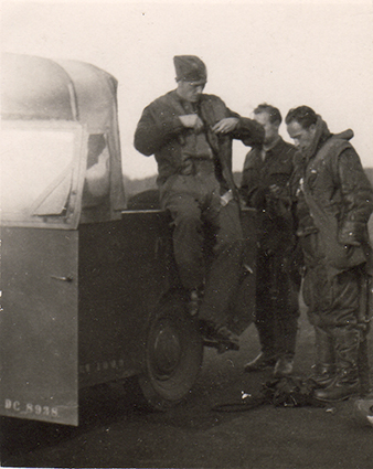 Members of the ŠIŠKA's crew from the ill-fated mission in December 1941. From the left, Josef MOHR (KIA, 2nd January 1942), Rudolf SKALICKÝ (MIA, 28th December 1941), Pavel SVOBODA. Archive of Dagmar Johnson - Šišková.