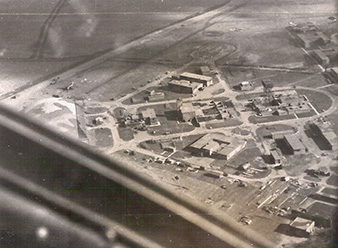 Aerial view of the first base of the 311 (Czechoslovak) Squadron in Honington. Archive of Pavel Simet