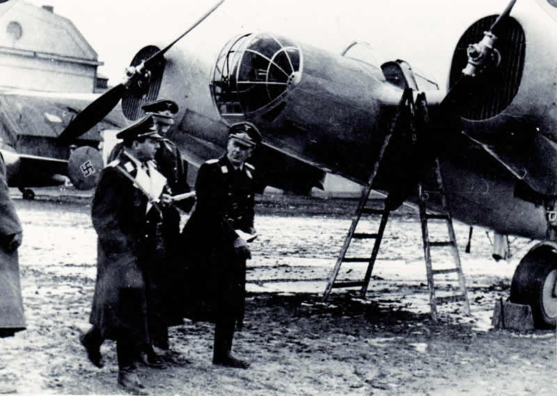 Luftwaffe inspecting the aircraft gained from the Czechoslovak Air Force after the occupation of Czechoslovakia. Archive of Ota Hrubý.