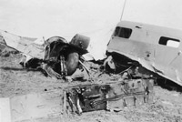 Training accident involving an Airspeed Oxford II