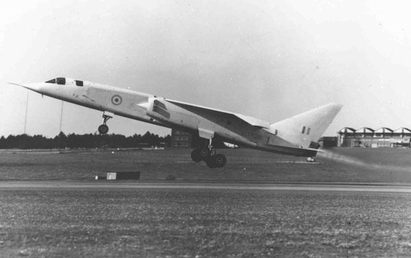British Aircraft Corporation TSR.2 XR219 taking off, circa 1964 (PC94/201/33)
