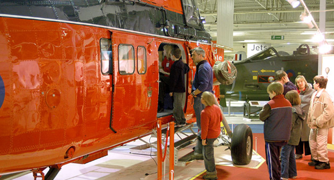 The Westland Wessex helicopter at the RAF Museum London during one of Open Cockpits and Cabs events