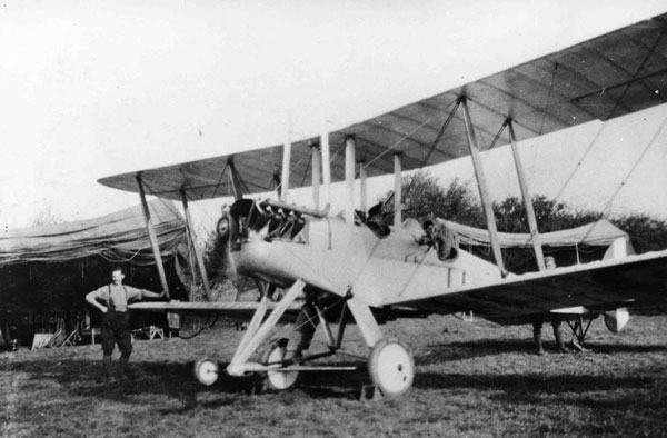 X003-2602-9575: BE2C, the type of aircraft Lt Brown was in when he was shot down and captured