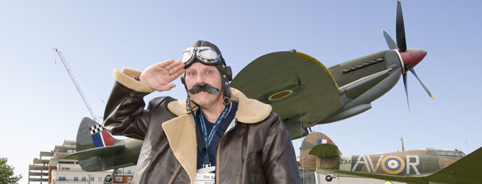 Many runners choose to run the Spitfire 10K in fancy dress