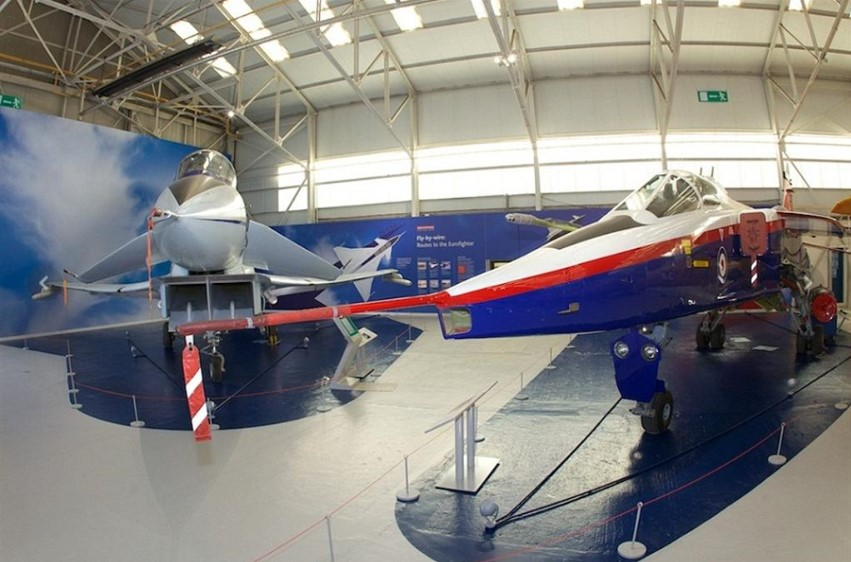 The EAP and Jaguar ACT Demonstrator at Cosford
