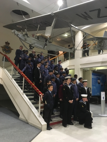 120 ATC Squadron Cadets at the Museum for their annual presentation evening