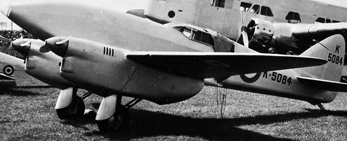 The DH 88 at Hendon in 1936. Behind it is the Armstrong Whitworth AW23 prototype.