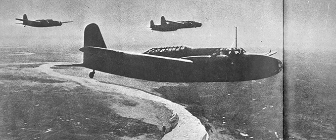 A Mitsubishi Ki-21 'Sally', standard Japanese bomber during the Second World War.