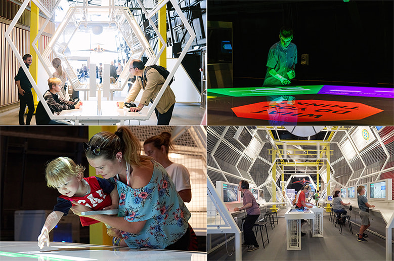 Our visitors exploring the new exhibitions 'RAF: First to the Future' at the RAF Museum London
