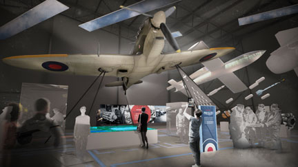 An artist's impression of what the First 100 Years of the RAF will look like.