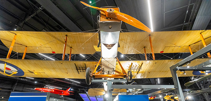 DH9 in our new exhibition 'RAF Stories The First 100 Years: 1918-2018' at our London site