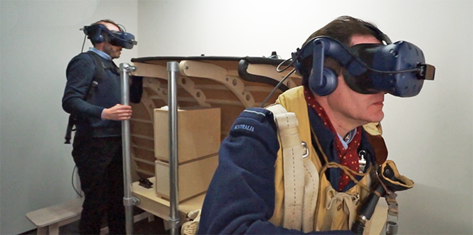 The positions of the wireless operator and the navigator in the immersive Dambusters VR Experience at the RAF Museum London
