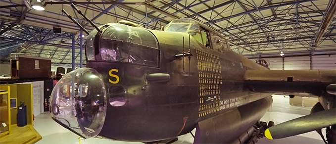 The Avro Lancaster at the RAF Museum London