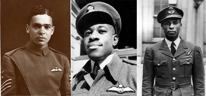 Sergeant William Robinson Clarke, Flight Lieutenant Emanuel Peter John Adeniyi Thomas and Squadron Leader Philip Louis Ulric Cross