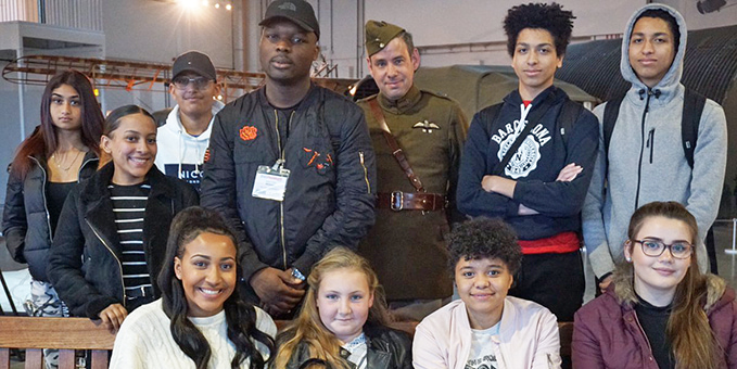 SoundSkool Group with Vernon Creek, Access and Learning  Officer, in uniform