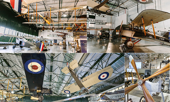 The First World War in the Air exhibition at the RAF Museum London