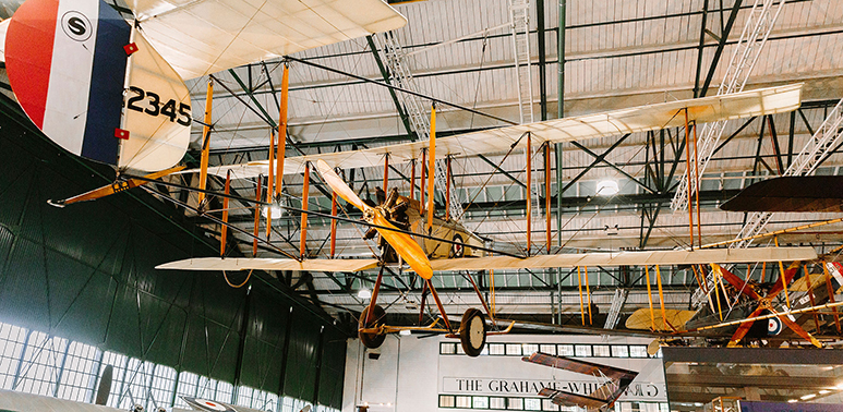 First World War aeroplane suspended in H2