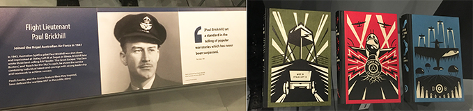 Paul Brickhill story and three books in our exhibition