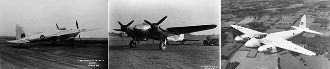 Sea Mosquito TR Mk 37, an unarmed training version of the Mosquito and a Mosquito in the colours of the Turkish Air Force