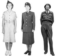 Women's uniforms in 1950s