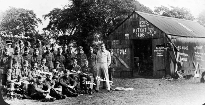 Group photograph of 'A' Flight 602 Squadron at dispersal, Abbotsinch, 3 September 1939
