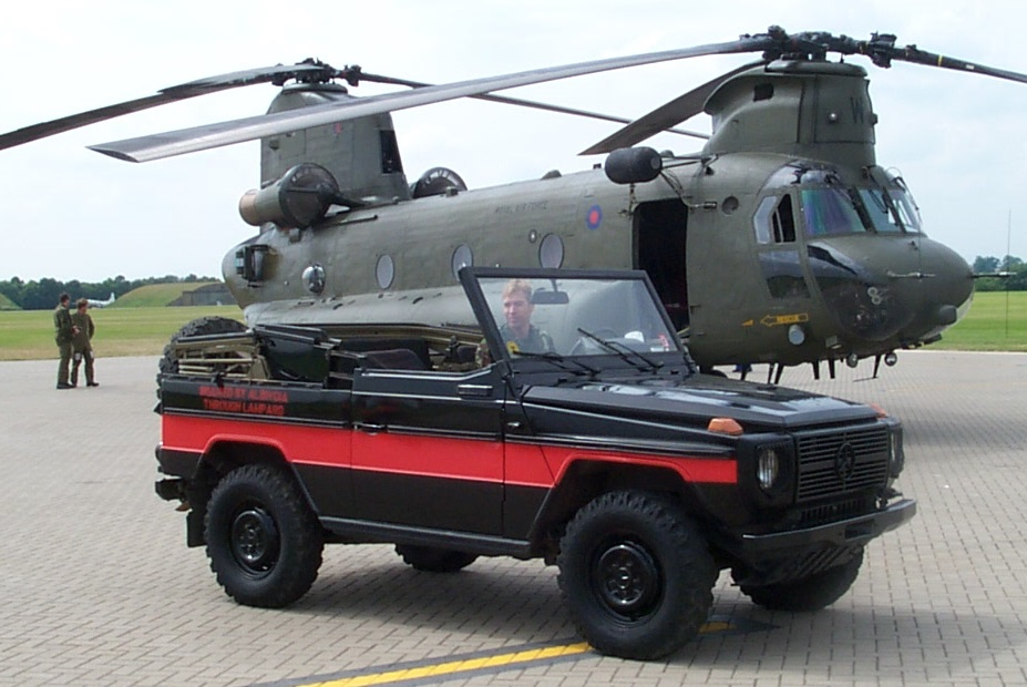 The G-Wagen on its arrival at Cosford in June 2001.