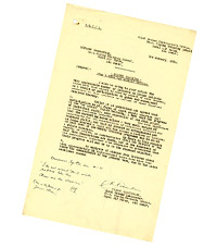 Letter from Flight Lieutenant Robert Ritchie Greenlaw to Officer Commanding No. 4 Flying Training School, Abu Sueir, Egypt