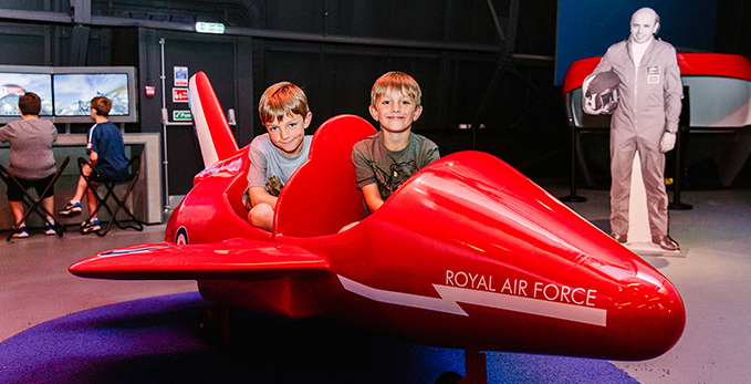 Young visitors at the RAF Museum London