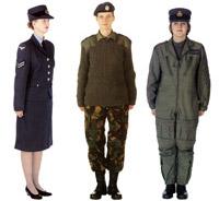 Modern women's RAF uniform