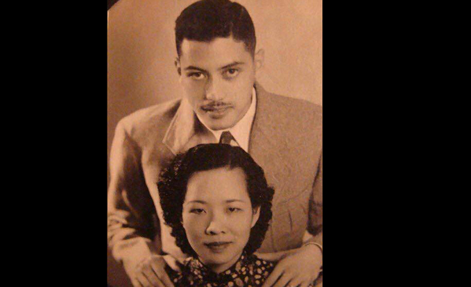 This is Arthur Tien Chin and his wife Eva, who perished in a Japanese air attack, while nursing her wounded husband. (Image kindly provided by John Gong, Arthur's grandson.)