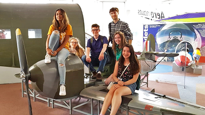 The RAF Museum's Youth Panel 2018 in our children's play area