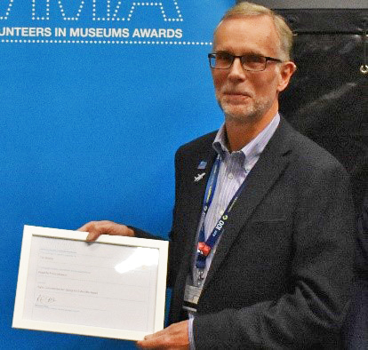 Tim Bracey with his Highly Commended certificate
