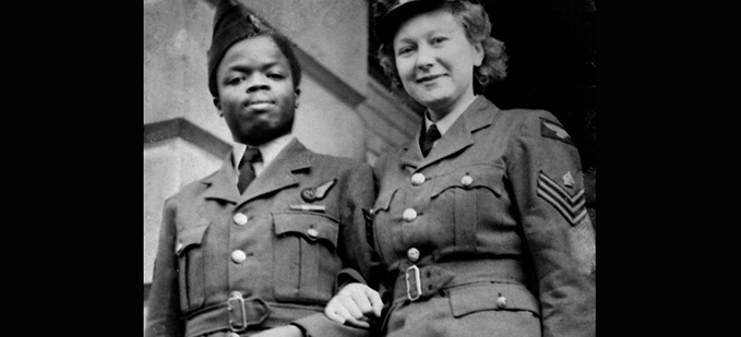 Nigerian Flight Sergeant David Abiodun Oguntoye & British Flight Sergeant Dulcie Ethel Adunola Oguntoye