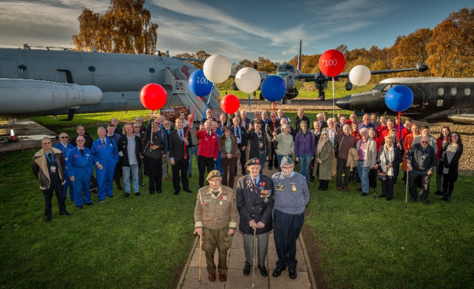 Les Cherrington's 100th birthday at our Cosford site