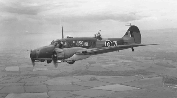 An example of an Avro Anson in flight, this aircraft was from 7 Air Gunners School, August 1943 (PC98/173/5963/2)