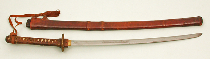 Captured Japanese sword, now safely stored in the RAF Museum Archives