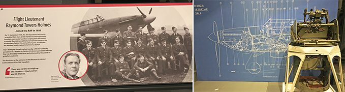 The story of Ray Holmes and the Hurricane's plan in the Defence section of our new exhibition