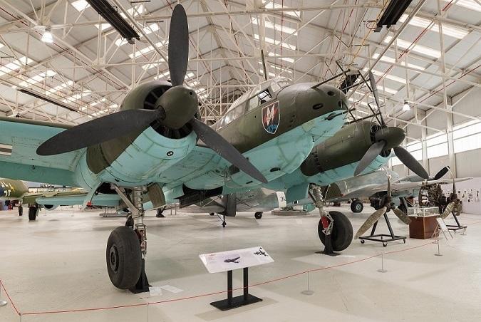 Junkers Ju 88 night fighter Cosford. Notice the radar antennas.