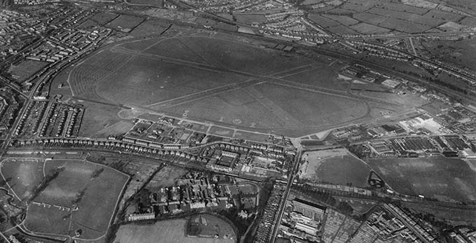 A historic picture of the Hendon area where the RAF Museum London is currently located