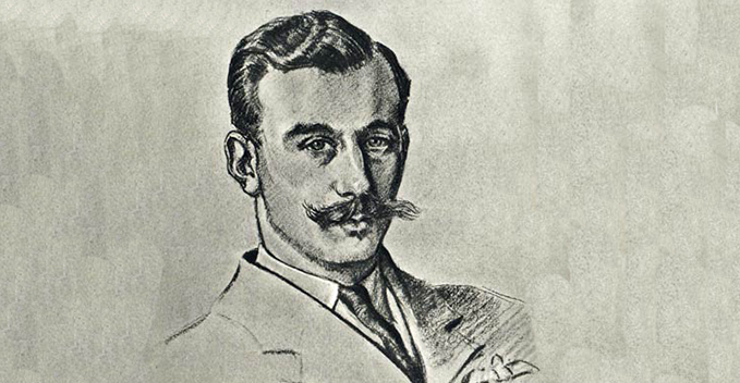 Taffy Higginson, a drawing by Cuthbert Orde