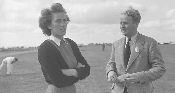 Lettice Curtis and Alex Henshaw, the test pilot who flew more Spitfires than any other