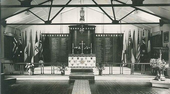 St George's Chapel of Remembrance, RAF Biggin Hill, 23 April 1944. Crown Copyright.