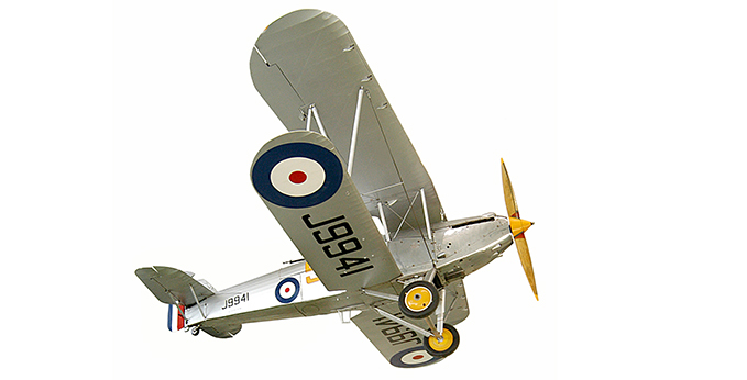 Hawker Hart II in our hangar 3 and 4 at London site