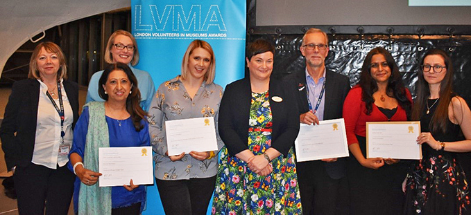 The LVMA award winners from the night  at our London site