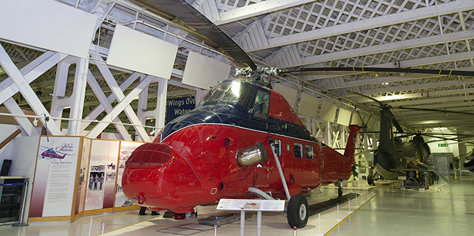 Our Westland Wessex HCC4 on display at Historic Hangars at the RAF Museum London