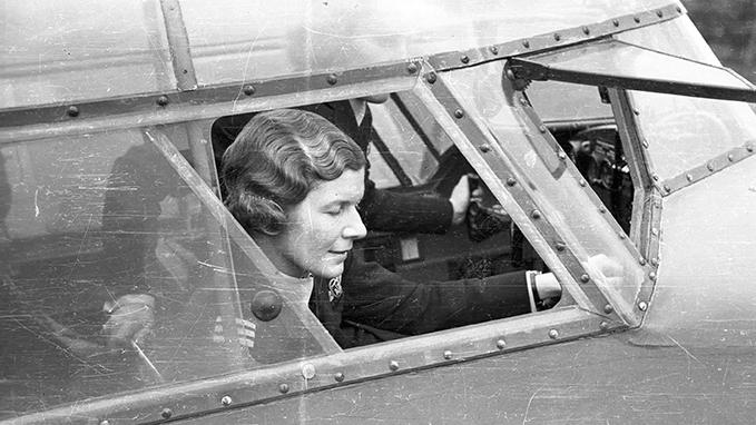 Pauline Gower in an Airspeed Oxford, 1942